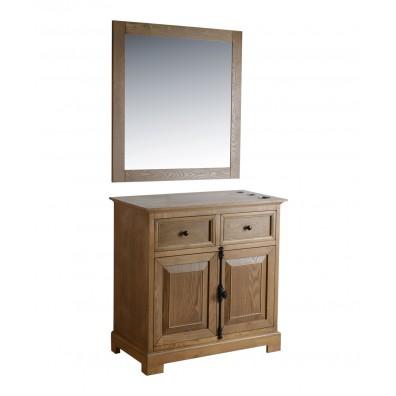 "St. James 36"" Light Oak Vanity Styling Station & Mirror"