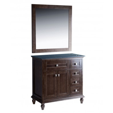 "Madison 36"" Oak Grey Vanity Styling Station & Mirror"