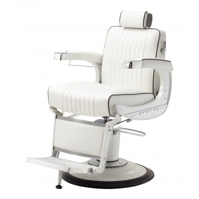Takara Belmont BB-225WHT Elite White Barber Chair