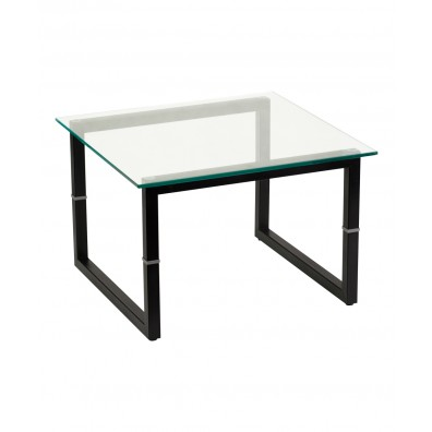 Contemporary Glass Reception End Table
