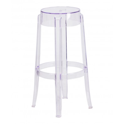 Top Hat Tall Transparent Barstool