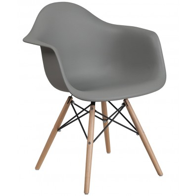 Clarke Reception Chair w/ Wood Base