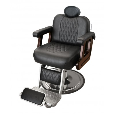 Collins B60 Commander Supreme Barber Chair with Calf Pad Leg Rest