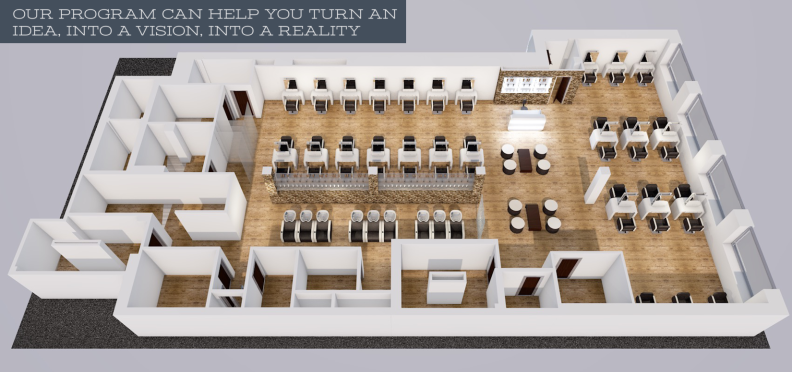 Salon, Barbershop & Spa Design Services: Free Layouts ...